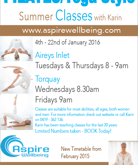 Aspire's summer classes Starting Now